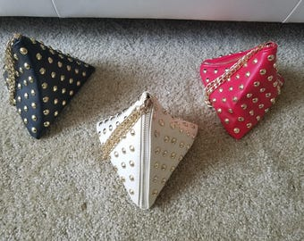 Triangle Shaped Gold Studed Wristlet
