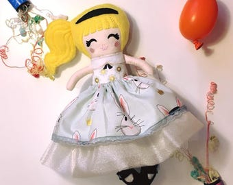 Alice in Wonderland inspired small doll