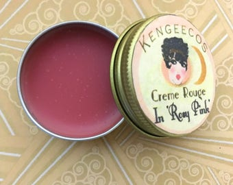Rosy Pink Cream Blush   Pink Lip and Cheek Tint   Pink Tinted Lip Balm    Pink Natural Cheek Stain   Rosy Pink Lip Stain   Zero Waste Makeup