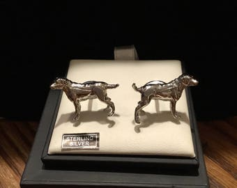 David Donahue Sterling Silver Labrador Cufflinks
