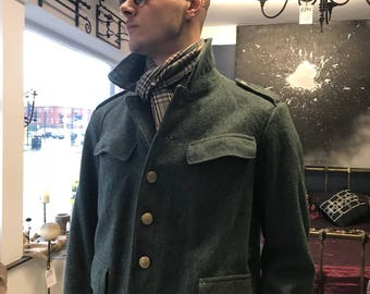 Vintage military clothing Swiss army coat