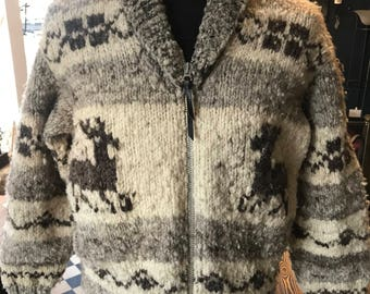 Vintage COWICHAN zip sweater made in Canada