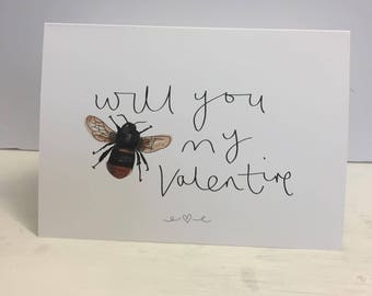 Will you Bee my Valentines Greeting Card