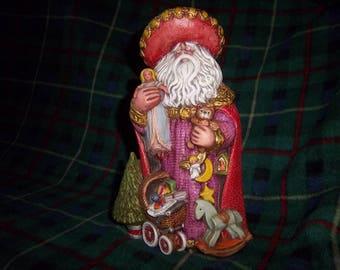 Hand Painted Ceramic Santa #10