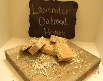 Lavender Oatmeal Honey Goat Milk Soap