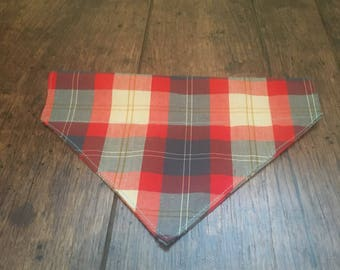 Red and blue checked dod bandana