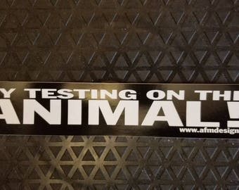 Try testing on this animal sticker