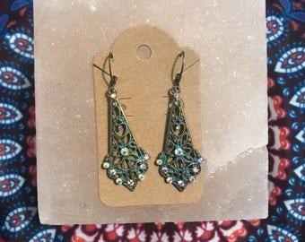 Vintage Chandelier Earrings-Gold