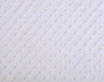 MINKY destash, minky fabric by the yard, minky  in WHITE