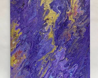 Iris - Original Painting 16X20 (Fluid painting*Abstract painting)