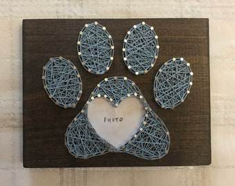 Pawprint String Art                        Pawprint Photo Frame
