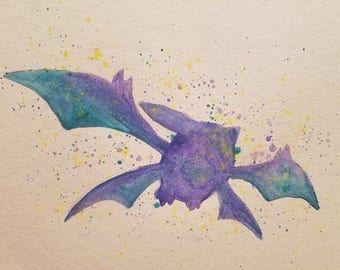 Pokemon Crobat Watercolor Original