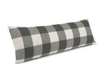Black & White Buffalo Plaid Lumbar Pillow Covers ,Decorative pillow cover in designer fabric,all size