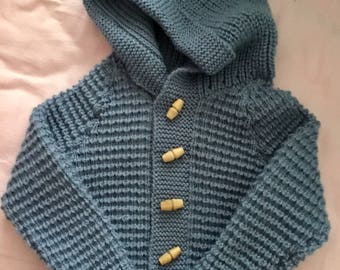 Boys Hand Knitted Cardigan 9-18 months