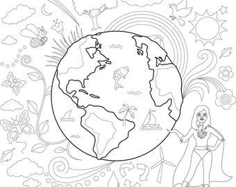 Earth Digital Doodle