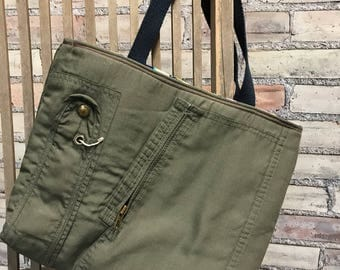 Repurposed Flight Suit Tote-Military Uniform Tote  ***Ready to Ship***
