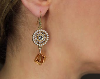 Golden Double Drop Earrings