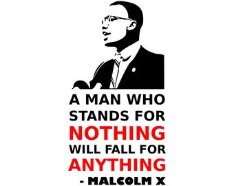 Malcolm X SVG. black power. black history. natural hair SVG vector  PNG  Cut Files, Svg Files, Cricut Files