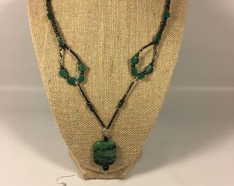 Handmade Glass Beaded Necklace