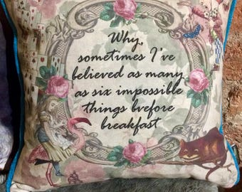 Alice in Wonderland Impossible Cushion
