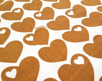 70s vintage Graziela fabric 30CMX 50cm: Hearts