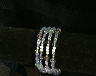 Light Blue Memory Wire Bracelet