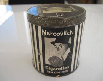 Marcovitch Black & White Cigarette tin (50/empty) c.1940