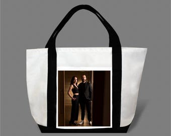 Dakota Johnson Jamie Dornan Canvas Tote Bag #0016