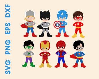 Superhero SVG Superhero kids Cutting files Cricut Silhouette Superhero design