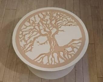 Table coffee tree of life