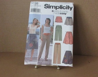 Sewing Pattern~Simplicity~Misses~Skirts~Pants~Sizes 4-10