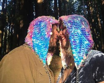 Sequin Festival Hood