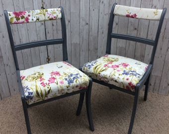 Two Country Living Style Dining Chairs