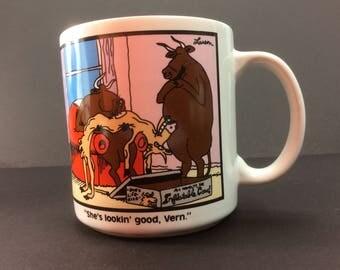 The Far Side Inflatable Cow Mug 1987 Gary Larson