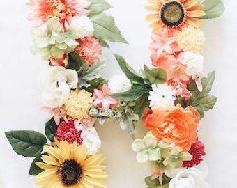 Custom Floral Letter