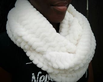Incredibly soft creme infinity scarf