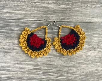 Earrings, crochet earrings