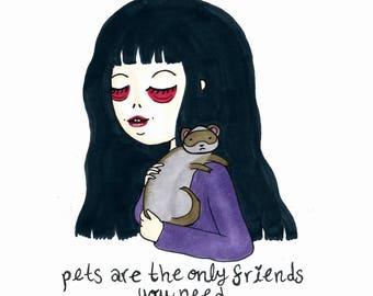 Friends - Dessin original Artwork