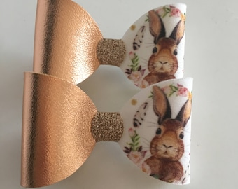 Individual 8cm rabbit bow