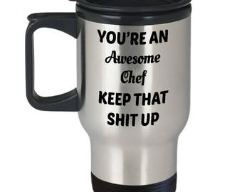 Keep Up Chef Travel Mug   Chef Gifts For Men   Chef Gifts For Women   Cooking Gift   Unique Chef Gifts   Cool Chef Gifts   Chef Gift Ideas