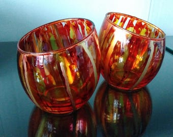 Alcohol Ink Votive Holders