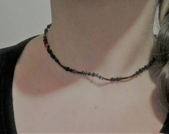 Necklace inner tube with small beads