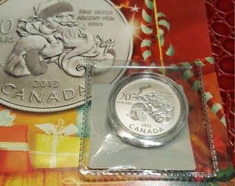 2013 Canada - 20Dollar  Coin - 99.99% Fine Silver in Folder Uncirculated