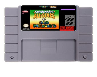 Super Mario All-Stars+Super Mario World 16 Bit SNES reproduction Game Card For NTSC/PAL free shipping !!!