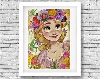 Bohemian Repunzel Art Print