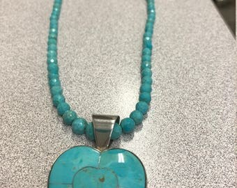 DTR Turquoise Heart Necklace