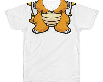 Bowser T-Shirt -  Nintendo T-Shirt - All-Over Printed T-Shirt
