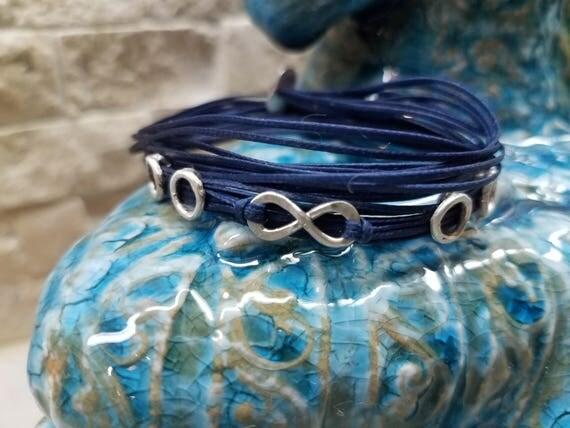 Zoe: Silver, custom fitted, Greek Cord Bracelet