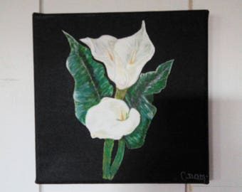 Arum flower painting