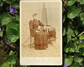 Vintage Cabinet Card Seated Woman